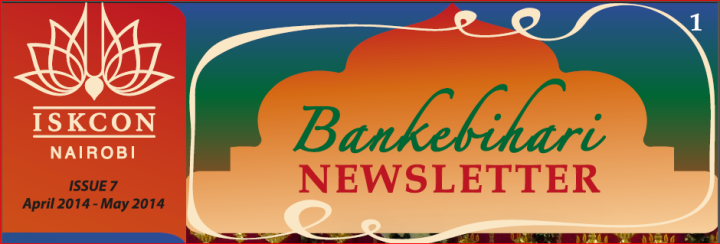 Iskcon Nairobi Newsletter